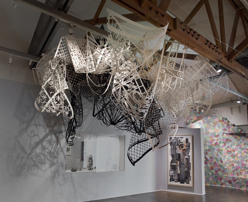 A photograph of an installation by Margaret Griffith