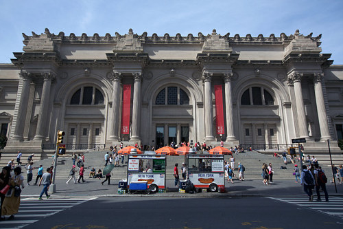 A photo of the exterior of the Met in New York