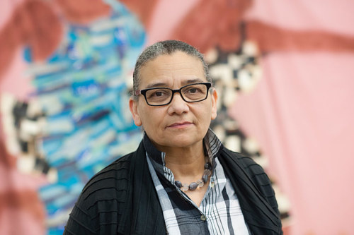 A portrait of artist Lubaina Himid for the 2017 Turner nominations