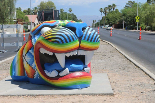 Jaguar by Miguel Rodriguez, a public artwork for Centered in Las Vegas