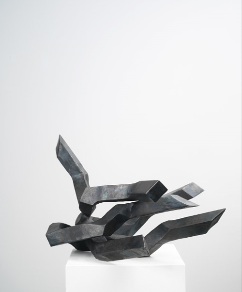 A steel sculpture by Robert Schad
