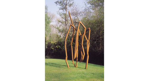 A photo of an outdoor sculpture by Robert Schad