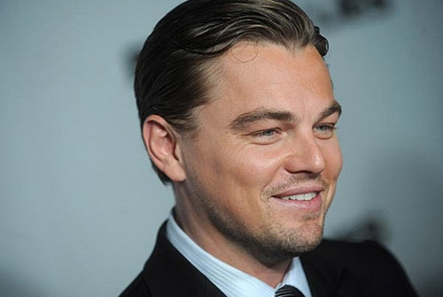 A photograph of actor Leonardo DiCaprio