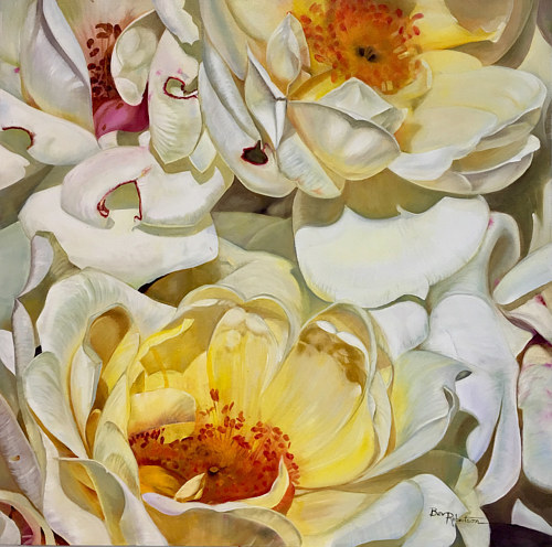 A painting of a flower by Bev Robertson