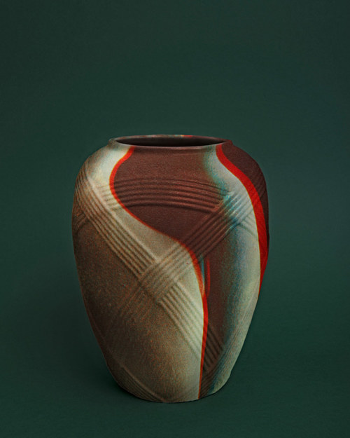 A composite image of an ancient vase