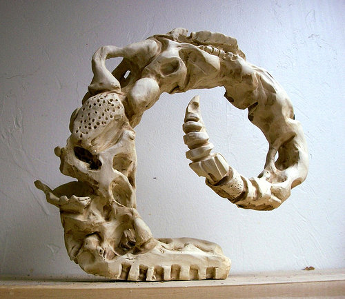 Sculpture made from animal horn