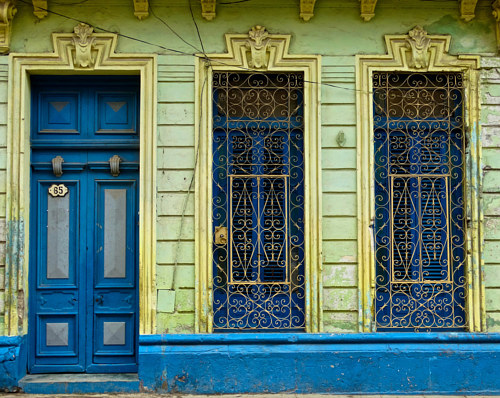 A photograph of the side of a building in Cuba