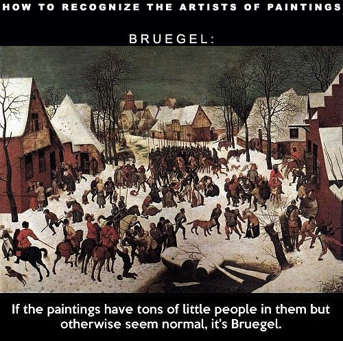 Photo of a Bruegel painting of winter village scene