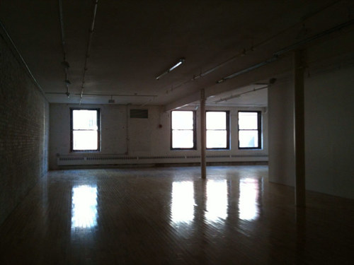 A photo of an empty gallery space