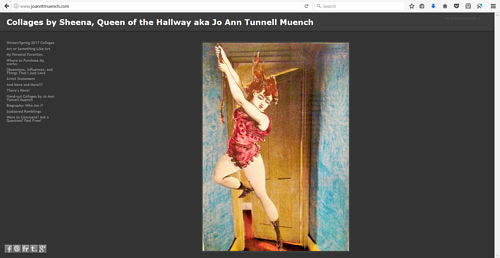 The front page of Jo Ann T Muench's art website