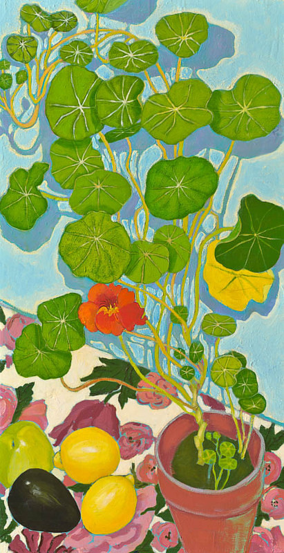 A painting of some nastursiums