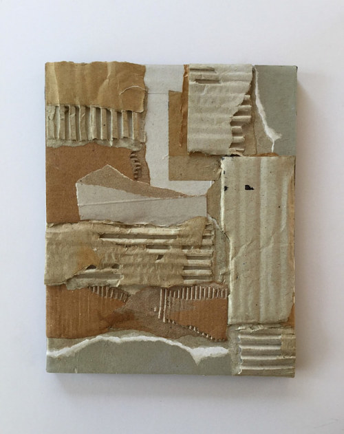 A work made from cardboard adhered to a canvas