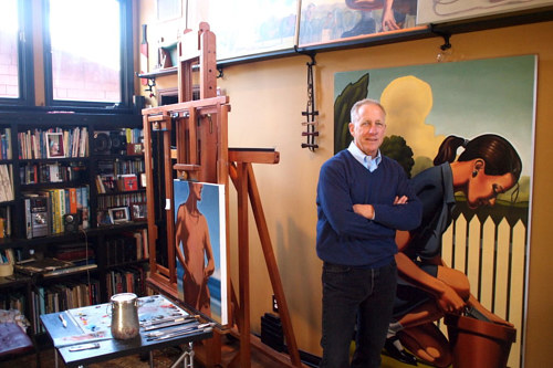 A photo of Kenton Nelson in his studio