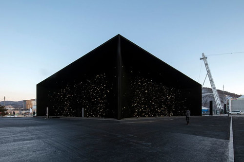 A pavilion by Asif Khan for the 2018 winter olympics