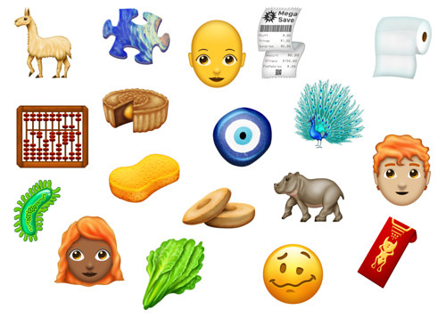 A collection of some new emoji
