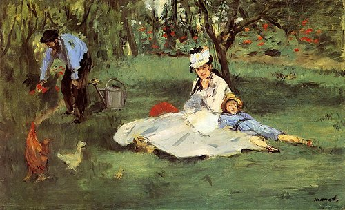 Edouard Manet oil on canvas painting