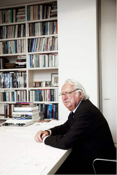 A photograph of the architect Richard Meier