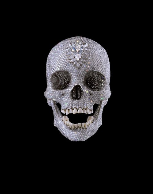 Photo of diamond encrusted skull