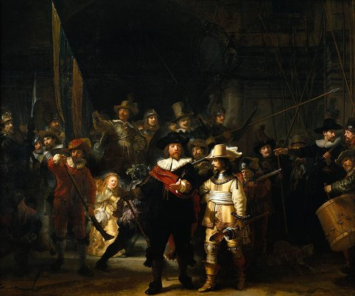 Oil painting of 17th century characters from The Netherlands