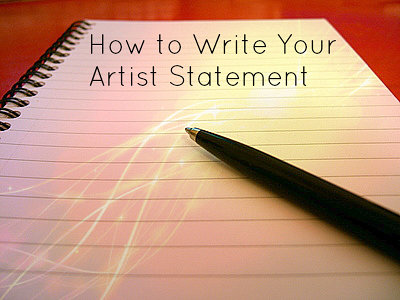 How To Write Your Artist Statement