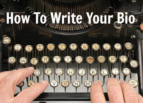 how to write an artists bio