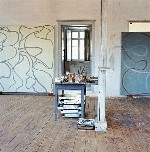 Brice Marden's painting studio.