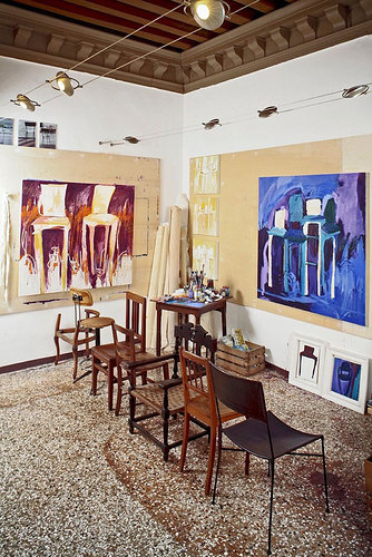The creative space for artist Stacy Gibboni