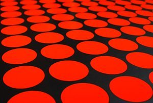 grid of red dots
