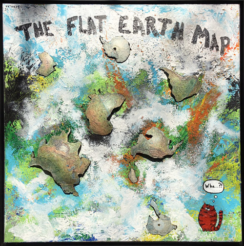 The flat earth map with bob spycat super spy cat barry scanlan art gumiabroncs Image collections