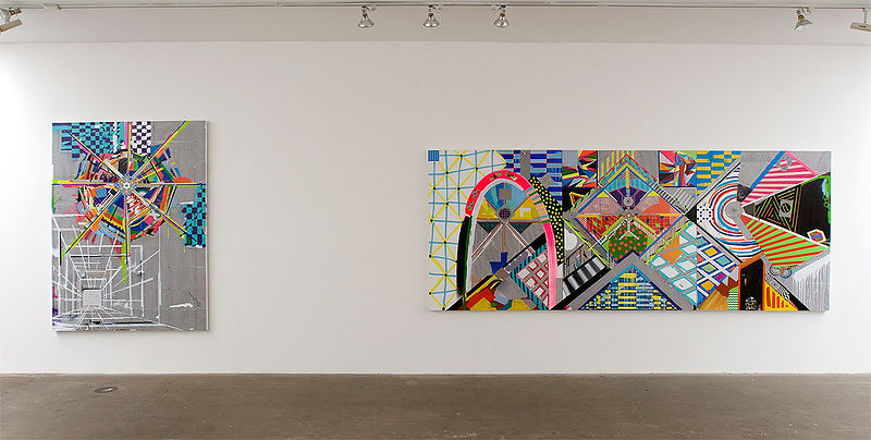 Installation view, –(\DARKHOR5E/)– 2012 by Brian Porray