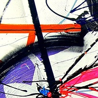 Bike, 2014, mixed medias, 40 in x 36 in by Karine Molloy