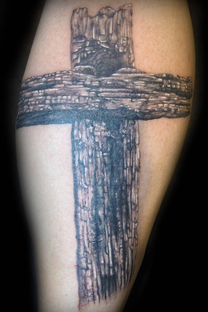 Wooden Cross Tattoo Kelowna B C Sweet Siren Tattoo In Kelowna B C