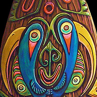 """Sepik River Totem"" top detail by Kenneth M Ruzic"