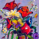 Acrylic painting Flowers on lilac  by Allen  Wittert