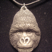 Mountain Gorilla (cold cast pewter) by Jason  Shanaman