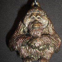 Orangutan pendant (full body in bronze finish) by Jason  Shanaman