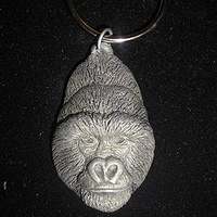 Mountain Gorilla key chain (cold cast pewter) by Jason  Shanaman