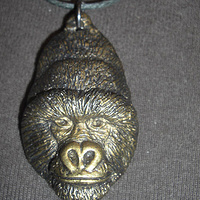 Mountain Gorilla pendant (bronze finish) by Jason  Shanaman