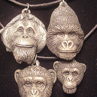 great ape pendant se cc pewter by Jason  Shanaman