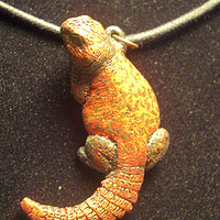 Painting Moroccan Uromastyx pendant (hand painted) by Jason  Shanaman