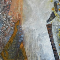 Mixed-media artwork Consequences by Karen Holland