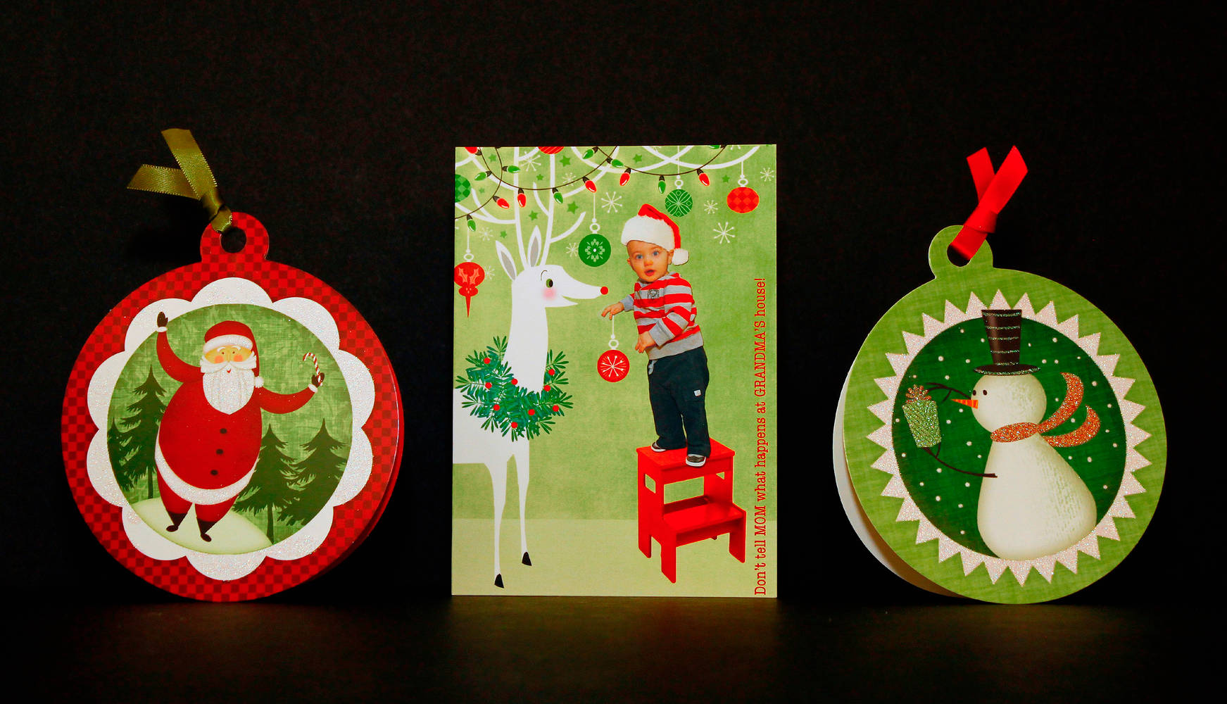 Christmas Card Assortment: American Greetings and Personal by Valerie Lesiak