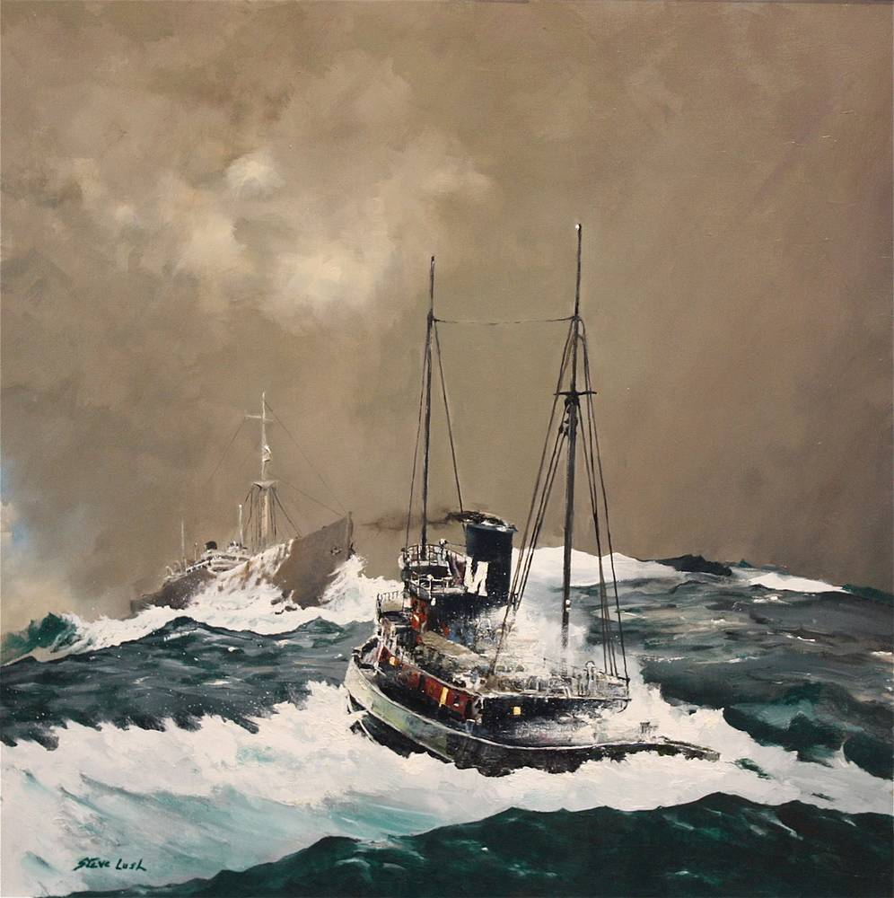 Oil painting A Tough Dispatch  by Nella Lush