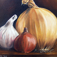 Study of Onion, Garlic, Shallot by Richard Mountford