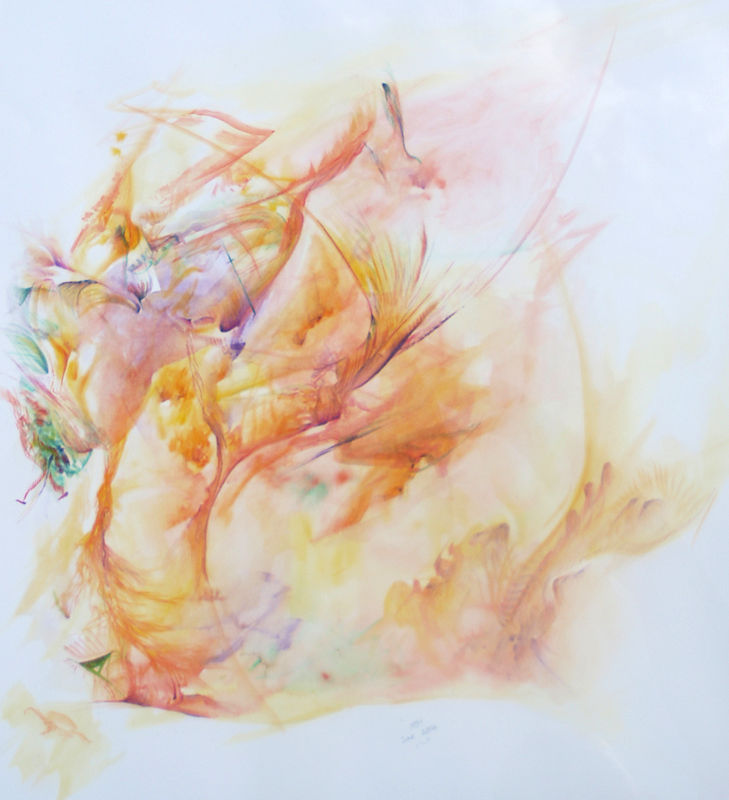 Watercolor Watercolour Abstract by Richard Mountford