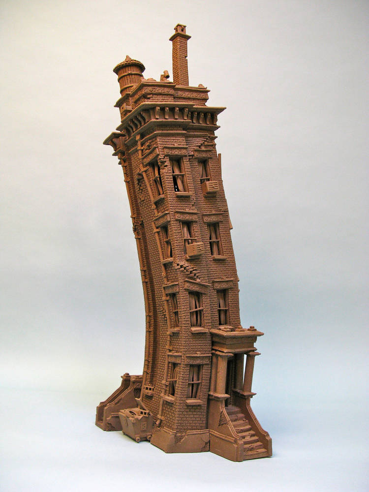 City buildings john brickels stoneware clay artist for Ceramic house paint