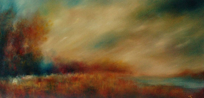 Oil painting Before the Storm by Liba Labik