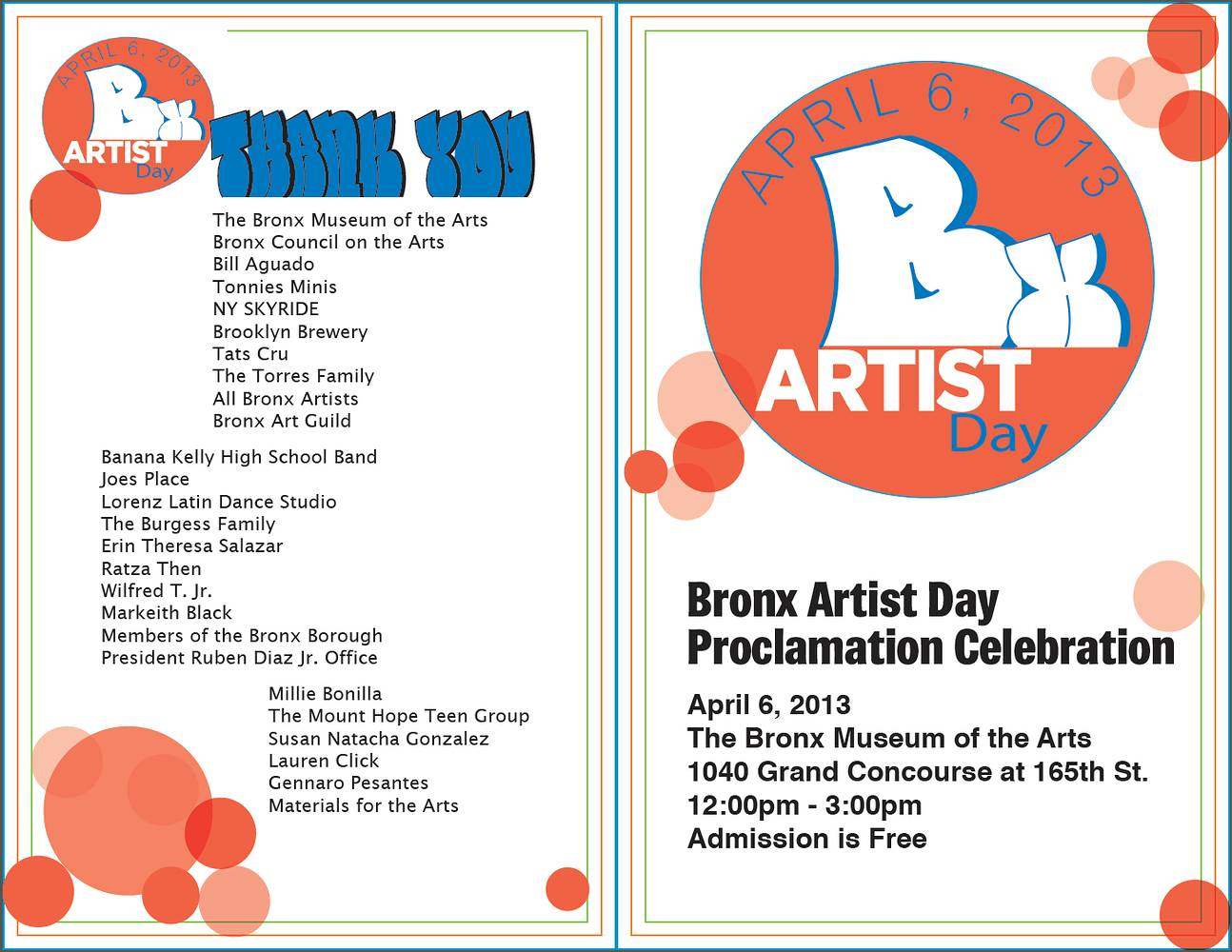 Bronx Artist Day Program Outside by Linda Bonilla