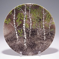 Aspen Forest Plate by Claudia Whitten