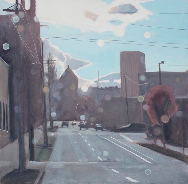 Oil painting Float/SE Madison by Shawn Demarest